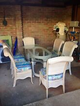 Glass Dining Table + 6 chairs Broadbeach Waters Gold Coast City Preview