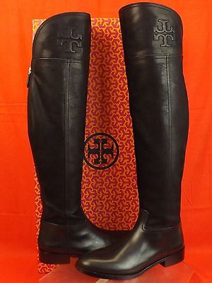 NIB TORY BURCH SIMONE BLACK LEATHER  OVER THE KNEE SPLIT REVA RIDING BOOTS 9