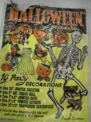 Vintage Beistle Halloween Decorations Bag ~ Advertising ~ From the 50's