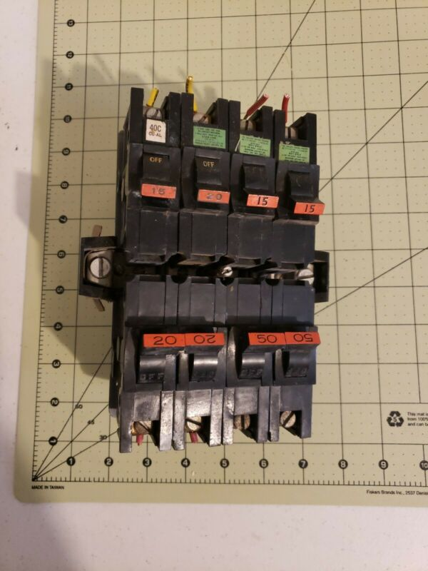 Lot of Sta Blok FEDERAL PACIFIC circuit breakers,  preowned Free Shipping (FP-8)