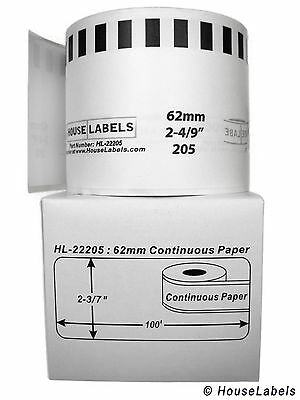 100 Rolls Of Dk-2205 Brother-compatible Continuous Labels Bpa Free