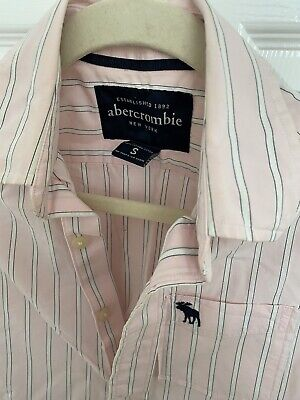 Abercrombie and fitch Womens Shirt Size S/XS Pink With Stripes