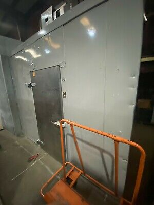 Used Walk-in Cooler 62wx 97lx 82h W New 0.75hp Refrigeration System