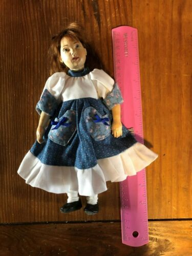 Rare Artist ROBERT NEUENSCHWANDER Wood Jointed Girl Doll dated