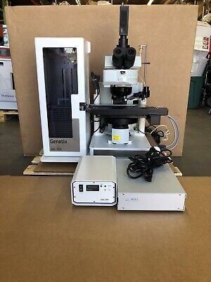 Genetix Gsl-120 Stacker Olympus Bx61 Trf Fluorescence Microscope W Objectives