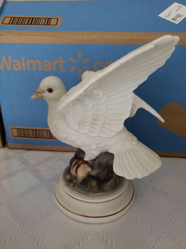 Large Stunning Vintage White Dove figurine