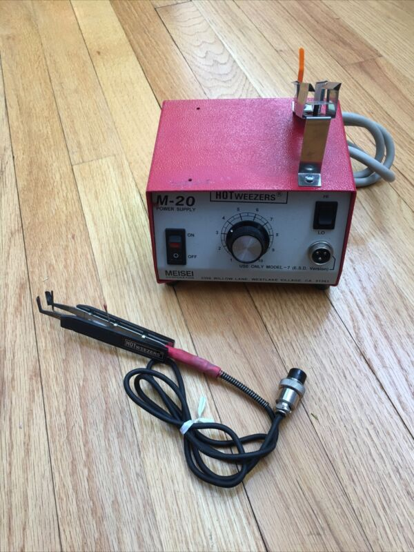 MEISEI  M-20 POWER SUPPLY With HOTWEEZERS ,Lightly Used