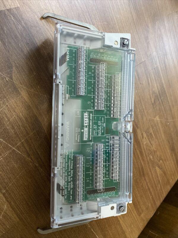 HP Agilent E1418-60101 Terminal Block for VXI E1418A 8/16-Channel D/A Converter