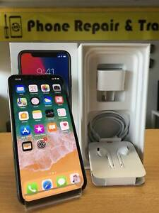 AS BRAND NEW IPHONE X 256GB WHITE / BLACK WITH APPLE WARRANTY