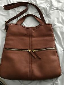 Genuine Fossil brown leather purse