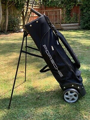 PORSCHE DESIGN GOLF BAG WHEELED TROLLEY CART CARRY BAG Hardly Used. Father's Day