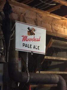LAST SALE !!!Vintage looking Moosehead Beer signs