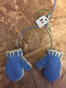 Mittens with String