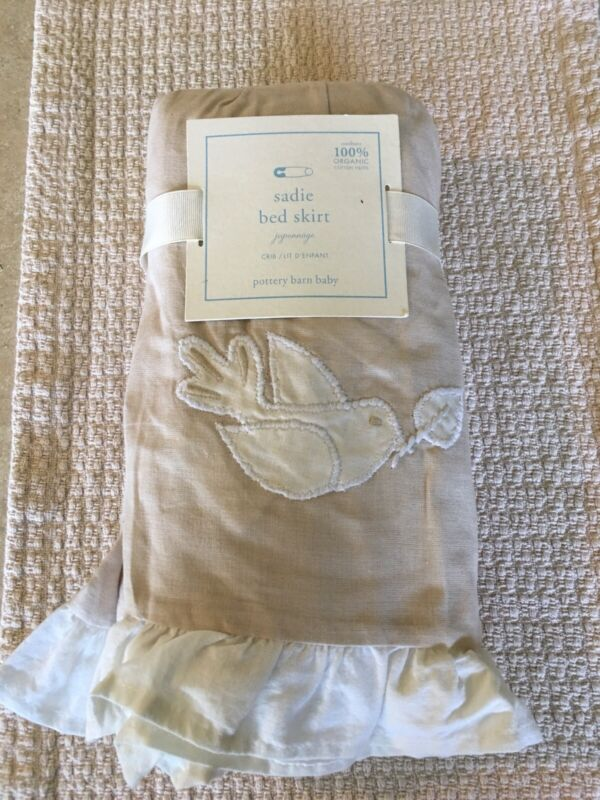 Pottery Barn Baby Sadie Crib/Toddler Bed Skirt Flax Gorgeous!