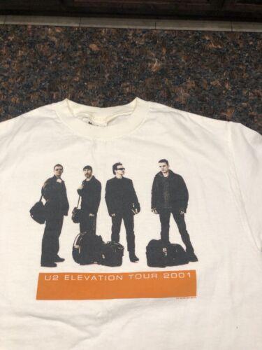 U2 2001 ELEVATION AUTHENTIC CONCERT TOUR TEE SHIRT VINTAGE AND RARE - MEDIUM