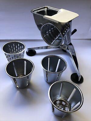 SALADMASTER Stainless Food Processor Slicer Shredder 5 Cones Complete