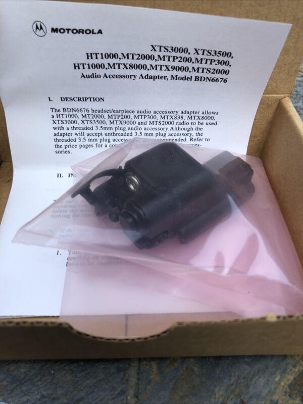 Motorola Audio Adapter 3.5mm BDN6676D Jedi HT1000 MTX1000 XTS NEW IN BOX
