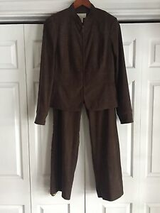 Lovely Suede-like Brown Suit for Sale!