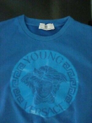 Young Versace long sleeve  blue Sweat shirt  age 10-12