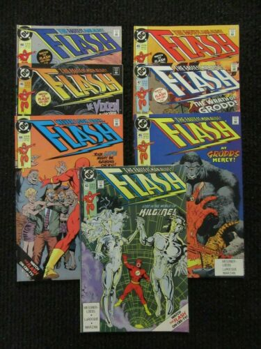 Flash #43 Thru #49  Oct 1990 Onward  Lot Of 7 Higher Grade Books!! See Pics!!