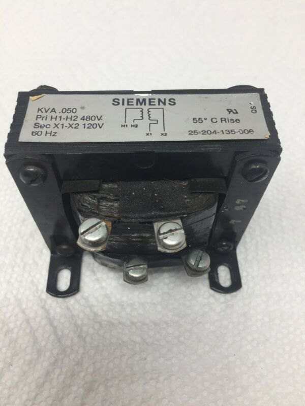 Siemens .050 KVA Transformer 25-204-135-006