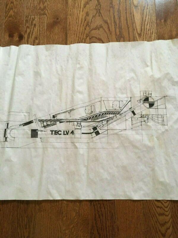 Time Cop ORIGINAL construction drawing of Tec 4 vehicle