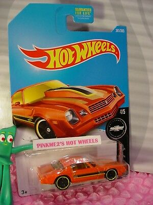 '81 CAMARO #361✰orange Chevy;yellow✰Camaro Fifty✰2017 US Hot Wheels case Q