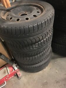 Used steel rim and Michelin 205/55r16