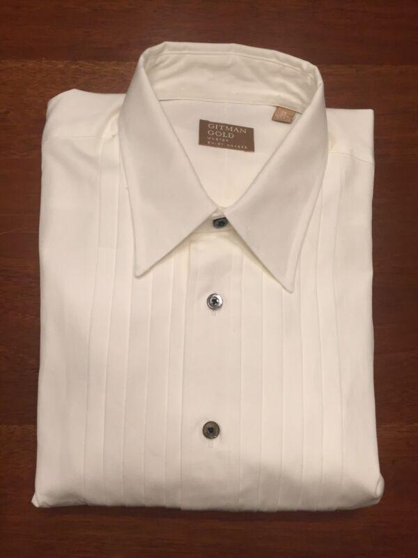 New 16 /32 Gitman Gold Tuxedo Shirt French Cuff