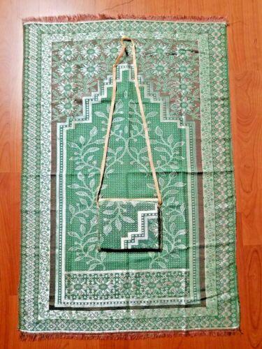 Prayer Rug Muslim Travel Mat,Islamic janamaz,Turkish Sajda mat Best Qualiy-GREEN