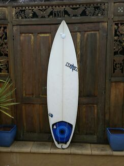 Mick Fanning DHD Coffee Bean Surfboard with Kelly Slater Tail Pad St Georges Burnside Area Preview