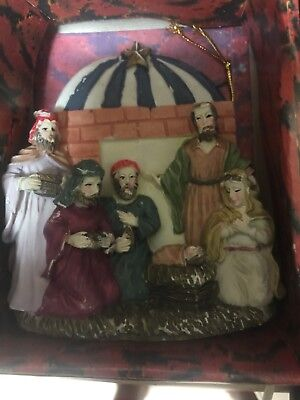 VINTAGE hand painted christmas ornaments NATIVITY SCENE.](Nativity Christmas Ornaments)