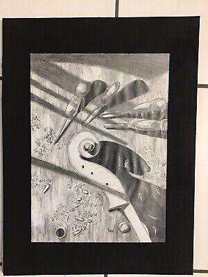 Pencil Sketch of Artisan Workshop