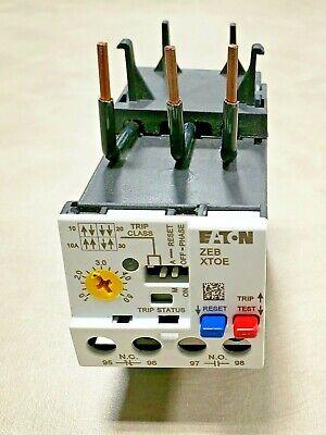 New Eaton Zeb Xtoe Overload Relay Block Zeb32-5 Xtoe005ccs 1-5a 1.0 - 5.0 Amps