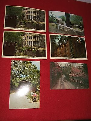 Vintage Six Post Cards West Virginia Harpers Ferry; Potomac Highland; Mill (Potomac Mills Virginia)