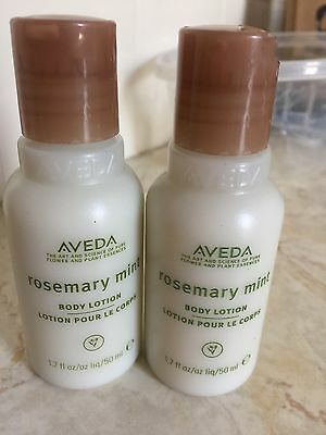 Lot of 2 Aveda Rosemary Mint Body Lotion 1.7 fl. oz. Brand New