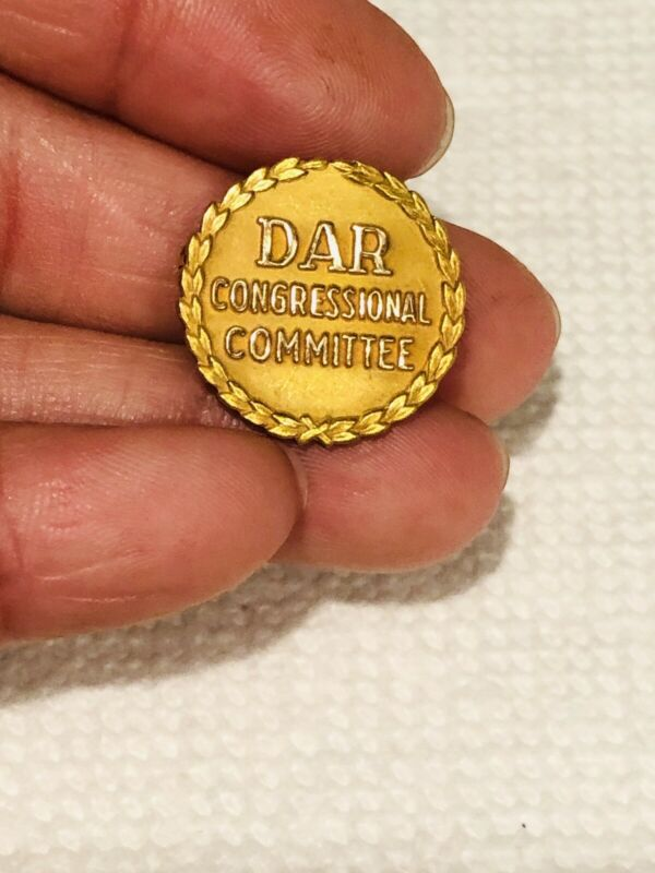 Vtg DAR Daughter Of American Resolution Congressional Committee GF Pin Caldwell