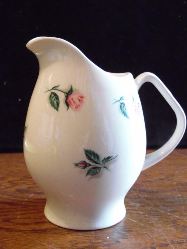 "Vintage Creamer Pitcher Rosebud by Steubenville 4 1/4"" Tall"
