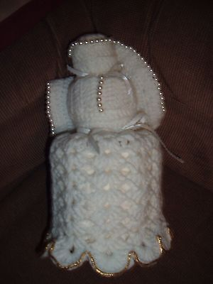 CROCHETED ANGEL TOILET PAPER COVER