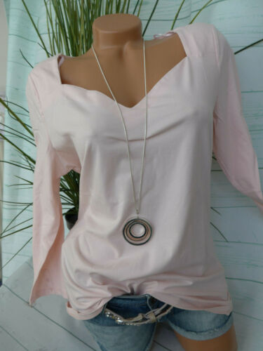 Esprit EDC Shirt Bluse Langarmshirt Damen Gr. S bis XXL rosa (854) NEU