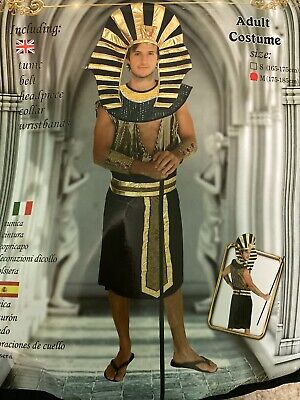 Adult Pharaoh Egypt Male 5pc Costume Sz.Med (175-185cm) Ancient Century Warrior