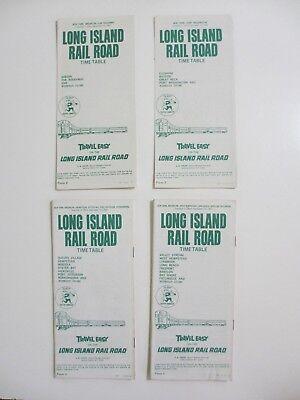 Vintage Lot of 4 1965 Long Island Rail Road LIRR Timetables Babylon Ronkonkoma