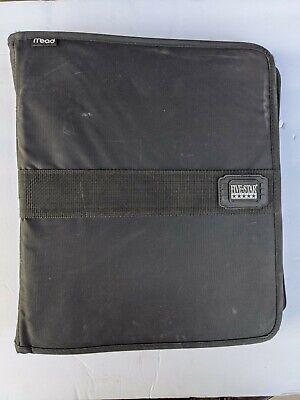 Vintage 90s Mead Black Five Star Trapper Keeper Zipper Binder 3 Ring First Gear