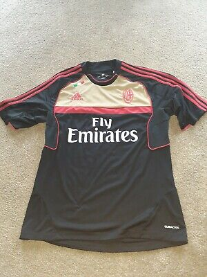 2010/11 Adidas AC Milan Training Jersey Black Men's Large