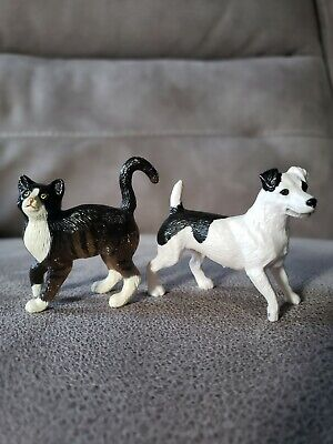 Breyer companion animals dog cat black and white jack Russell terrier