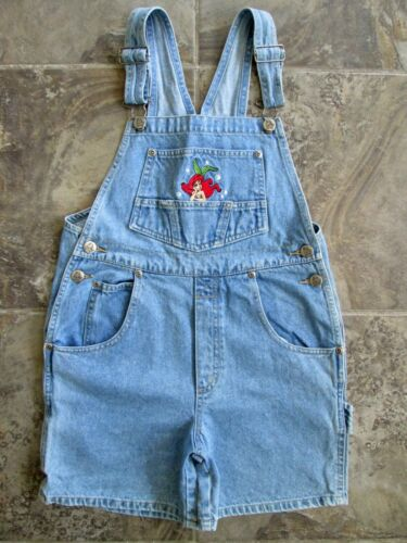The Little Mermaid Girls 10 Jean Overalls Shorts Bibs Denim Blue Disney Youth
