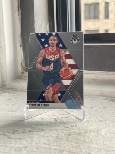 2019-20 PANINI MOSAIC GOLDEN STATE WARRIORS STEPHEN CURRY TEAM USA PARALLEL
