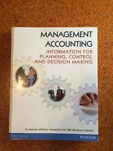 Management Accounting ACCT3104 Textbook Toowong Brisbane North West Preview