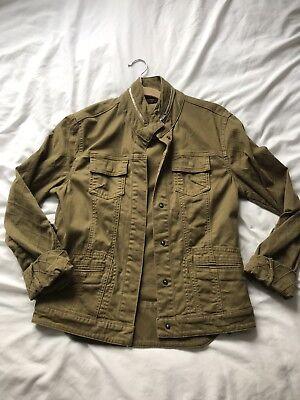 Womens Khaki Green Jacket Military Style Size M