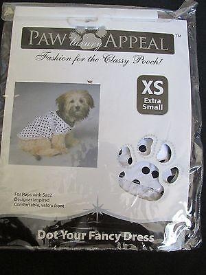 Neu Pfote Appeal Hund/Welpe Haustier Modischer Gepunktet Ihr Kostüm Black/Weiß ()